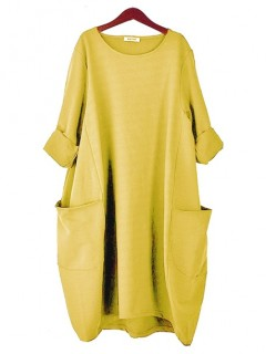 Sukienka Oversize Mustard