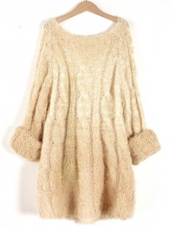 Sweter Fluffy Straw