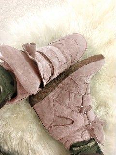 Sneakersy Zamsz Blush