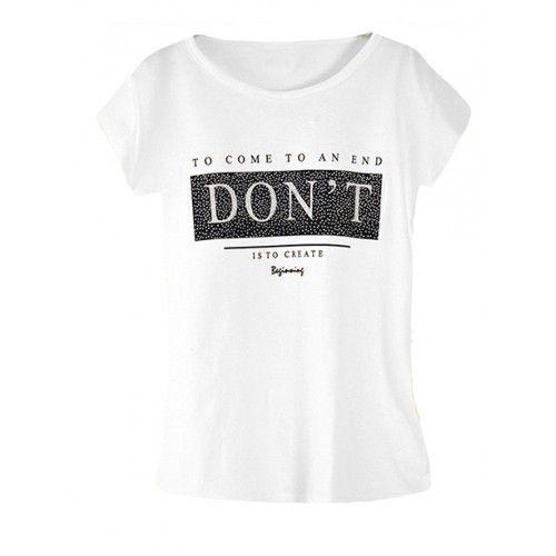 Koszulka Bluzka T-shirt Dont Biała
