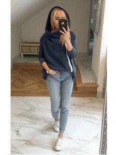 Bluza Asymetryczna Granatowa