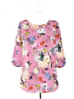 Bluzka Klasyczna Kwiaty Wzory W63