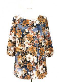 Bluzka Klasyczna Kwiaty Wzory W2