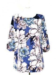 Bluzka Klasyczna Kwiaty Wzory W3