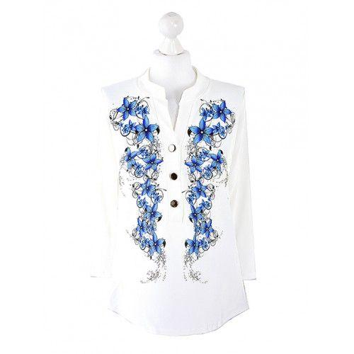 Bluzka Koszula Kwiaty Wzór 1