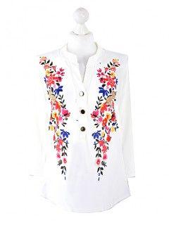 Bluzka Koszula Kwiaty Wzór 3