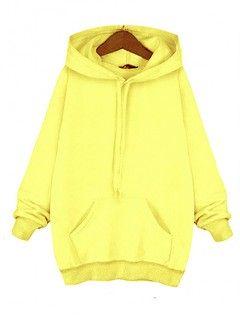 Bluza Troczek Basic Żółta
