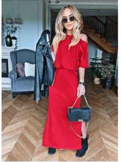 Sukienka Awanti Maxi Czerwona