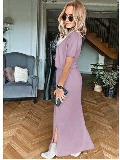 Sukienka Awanti Maxi Lawendowa
