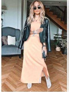 Sukienka Awanti Maxi Łososiowa