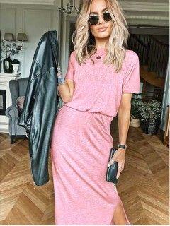 Sukienka Awanti Maxi Koralowa