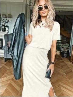 Sukienka Awanti Maxi Biała