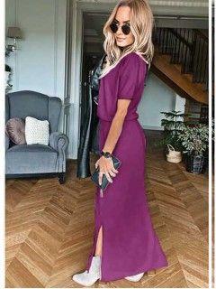 Sukienka Awanti Maxi Oberżyna