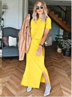 Sukienka Awanti Maxi Żółta