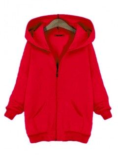 Bluza Basic Zamek Czerwona