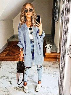 Kardigan Kimono Niebieski