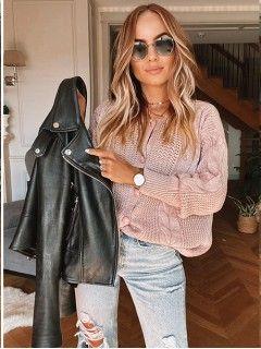 Sweterek Kardigan Pudrowy