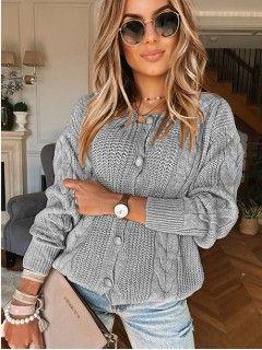 Sweterek Kardigan Szary