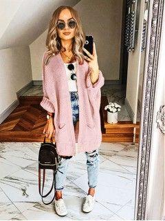 Kardigan Kimono Różowy