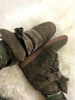 Sneakersy Zamsz Khaki