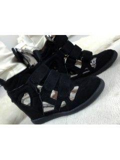Sneakersy Zamsz Black