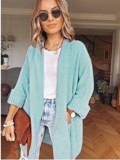 Kardigan Kimono Błękitny