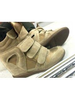 Sneakersy Zamsz Beige