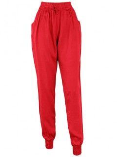 Spodnie Alladynki Haremki Czerwone
