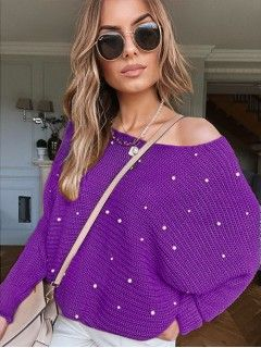 Sweter Perły Fioletowy